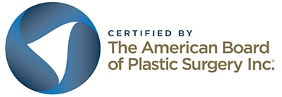 Certified by The American Board of Plastic Surgery Inc.